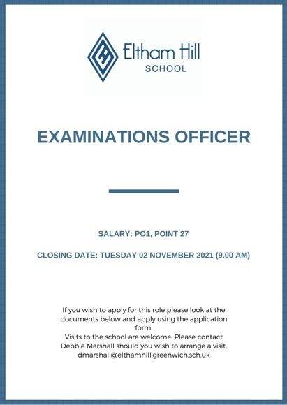 Exams officer
