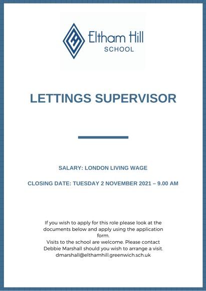 Lettings supervisor 1